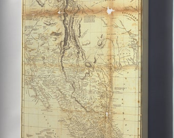 Canvas 16x24; Map Of New Spain, Mexico 1804