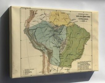 Canvas 16x24; Bow & Arrow Distribution In Central Brazil 1896