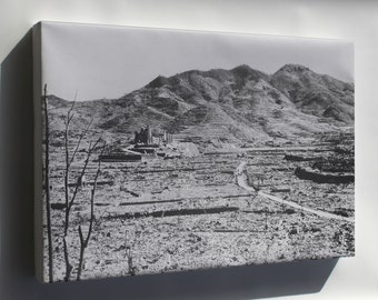 Canvas 16x24; In The Background, A Roman Catholic Cathedral On A Hill In Nagasaki, Ca. 1945 Nara 519385