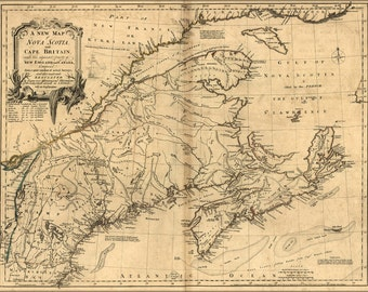 16x24 Poster; Map Of Nova Scotia & Cape Britain Canada 1768