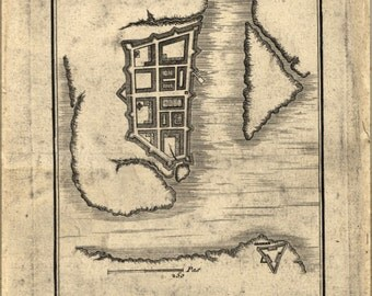 16x24 Poster; Map Of Charleston South Carolina 1780 (Check Other)