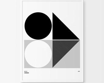 Scandinavian print, Scandinavian style art print, nordic print, minimalist poster, nordic design, swedish design art print, modern art