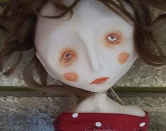 ooak art doll, ooak goth doll, unique art doll, unique art doll, collectable doll, Augusta