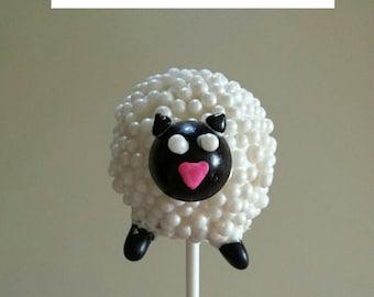 One Dozen Sheep Cake Pops