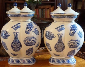 Double-Bottle Chinese Vases
