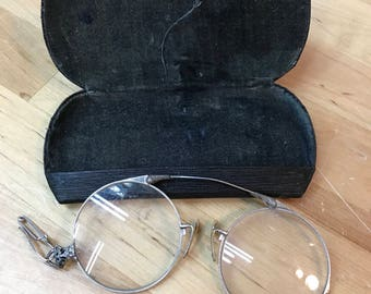 Antique Eyeglasses and case