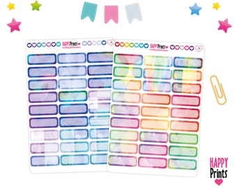 Watercolor quarter boxes Stickers