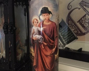 St Cousin Eddie Christmas Vacation Prayer Candle