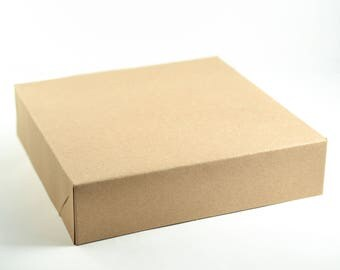 """Gift Boxes with Lids, 10 Kraft Boxes, Party Favor Boxes, Gift Boxes, Bridesmaid Boxes, Paper Boxes, Groomsmen Boxes, Brown Boxes 8.5x8.5x2"""""""