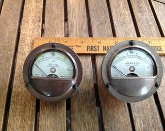 Vintage Marion Elect.Inst  Co. Direct Current Meters/Gauges