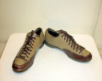 sz 7m vintage 40s  two tone lace up oxford shoes