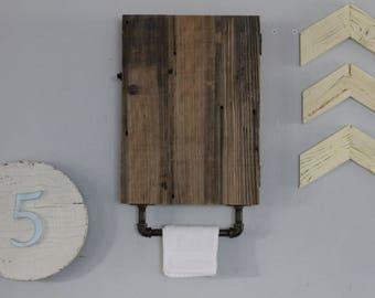 Reclaimed Wood Shelf, Reclaimed Wood Cabinet, Bathroom Cabinet,Industrial Shelf, Rustic Medicine Cabinet, Bathroom Wall Cabinet