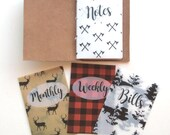 Cozy Cabin Vellum Planner Dashboards For TN's and Midori Travelers Notebook