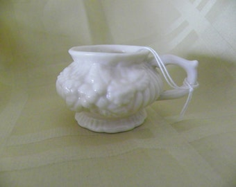 Floral Embossed Cup Toothpick Holder, Miniature Pitcher