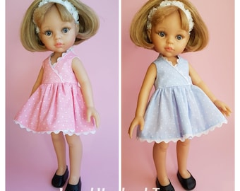Clothes for Corolle Les Cheries doll. Paola Reina doll Clothes. Dress for Paola Reina Dolls 13 inch. 12 inch doll dress. 13 inch doll dress.