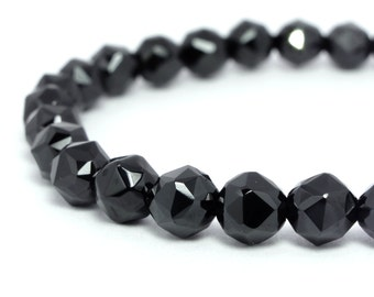 6mm Black Spinel Stretch Bracelet