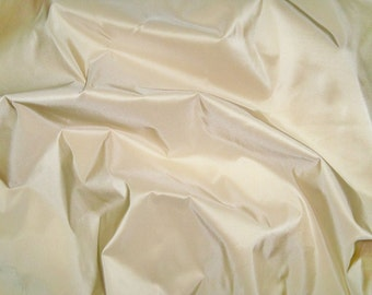 SCALAMANDRE SOTTO VOCE Silk Taffeta Fabric 10 Yards French Vanilla Cream