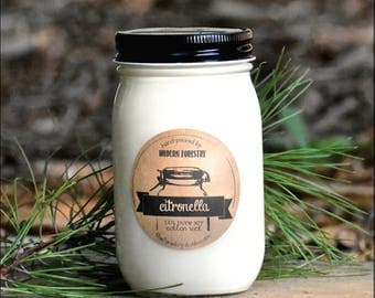 Citronella Soy Candle, Bug Candle, Camping Candle, Bug Repellent, Natural Soy Candle, Mason Jar Candle, Campfire Candle
