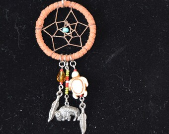 Native American inspired Dream Catcher Necklace