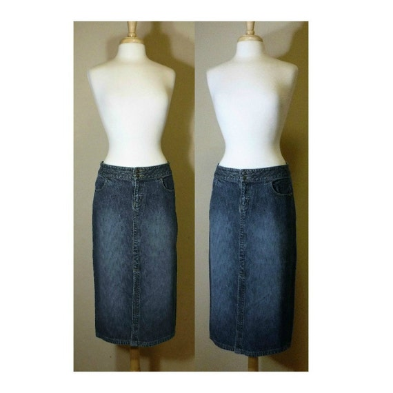 Women's jean skirt denim skirt blue jean skirt maxi