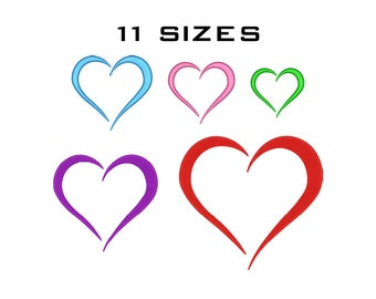Love Embroidery Design - Heart Machine Embroidery Design - Instant Download