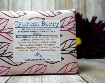 Cypress Berry Soap - Natural Soap - Organic Soap - Natural Skincare - Vegan-Soap - Homemade Soap - Cold Process Soap - Nabbies Handmade