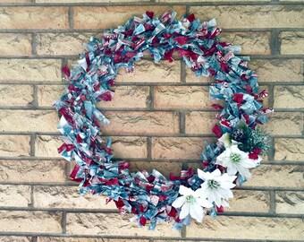 Christmas Wreaths, Front Door Wreaths, Housewarming Gifts, Seasonal Wreaths, Hostess Gifts, Fabric Wreaths, Winter Wreaths, Party Decoration