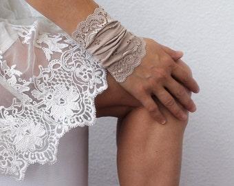WRIST CUFF, lace wrist cuff, thick wide lace jewelry, lace arm band, Tattoo Cover Up, Bohemian Wristband