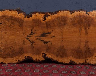 Brown Burr Oak Dining Table with Live Edge.