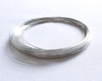 10 Feet - 22 Gauge - Sterling Silver Wire - Half Hard Round Wire - .925 Jewelry Wire - Crafting Wire - Bulk Wire - Wholesale - SS HH Wire