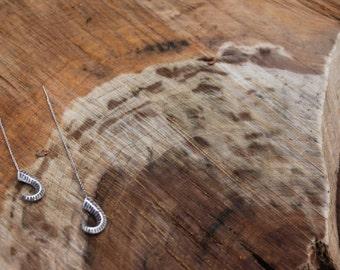 Sterling SIlver Ram's Horn Threaders