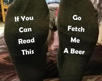Custom Personalized Designed Novelty Sock Bottoms
