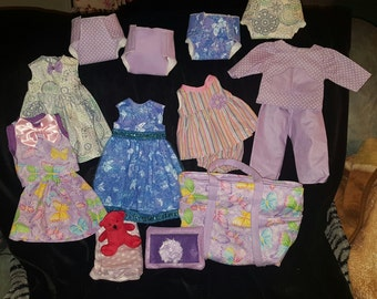 SALE Baby doll diaper bag with clothes and accessories