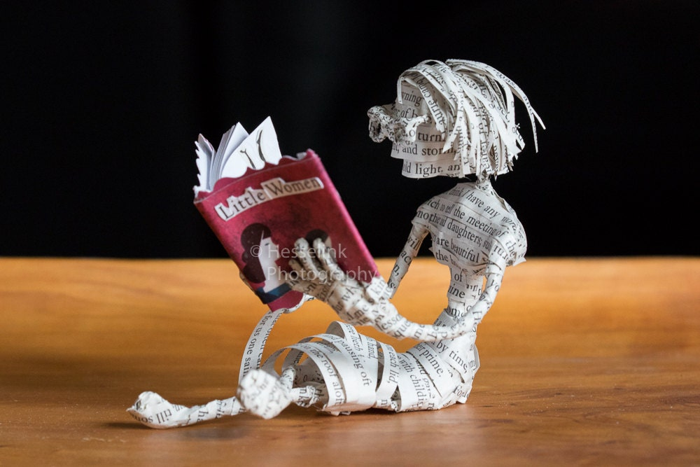 Little Women Book Sculpture Figurine
