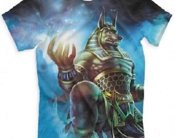 T-shirt fullprint Smite Anubis