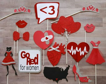 Women's Heart Health Photo Booth Props