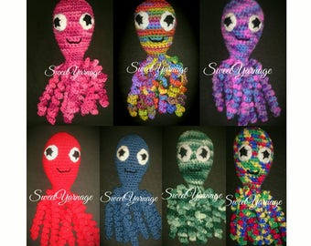 Ready to ship: Crochet Octopus Toy for Newborn/Preemie Baby