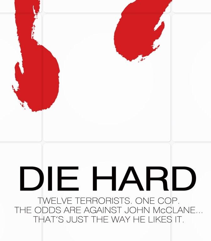 Die Hard // Bruce Willis // Minimalist Movie Poster // Unique A4 / A3 Art Print