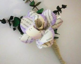 Harry Potter Paper Flower Boutonniere // Harry Potter Wedding Boutonnière // Groom's Flowers // Prom