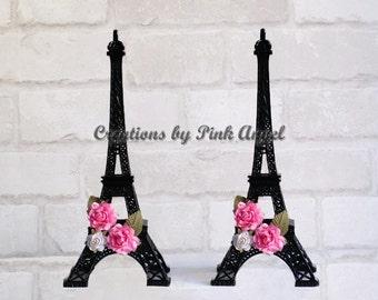 10 inch Black Paris Eiffel Tower Centerpiece, Paris Wedding, Paris Bridal Shower, Paris Baby Shower, Paris Tower Table Decor Ideas