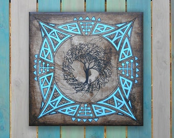 Mandala painting - Original painting - home of the Diwan - 20 - table mandala