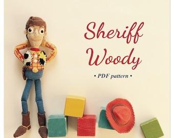 PDF - Sheriff Woody amigurumi crochet pattern