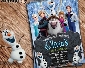 SALE 50% OFF Frozen Birthday Invitation - Printable - Personalized - Frozen Birthday Card for Girl - Frozen Party - Frozen Celebration