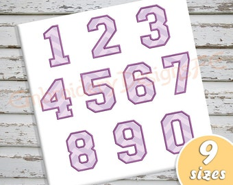 Number Applique Design - Numbers Set 0-9 Applique - 9 Sizes - Machine Embroidery Design File