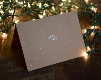 Handmade Holiday Card | Merry | Snowflake