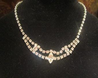 Kramer jewelry etsy rhinestone choker vintage 1950s kramer mid century necklace costume jewelry bridal evening collectible mozeypictures Images