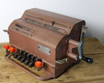 Vintage USSR counting machine ВК-1 / mechanical calculator / Arithmometer mechanical computer Accountant Gifts / counter Industrial
