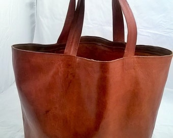 The Grand Shopper. Quality Leather Giant Shopper Tote. The Angie.