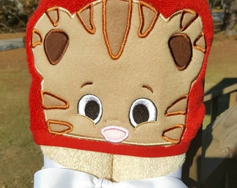 Tiger Daniel Hooded Towel with FREE Embroidered Name