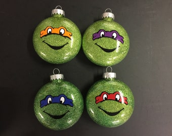 TMNT glitter ornament